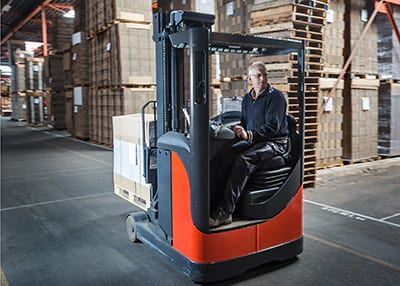 forklift training on a reach truck
