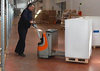 PPT training on a pallet truck